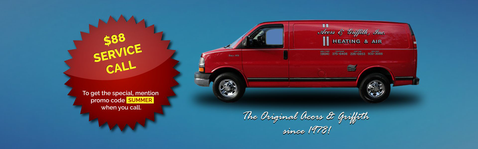Heating and Air Conditioning Service Van