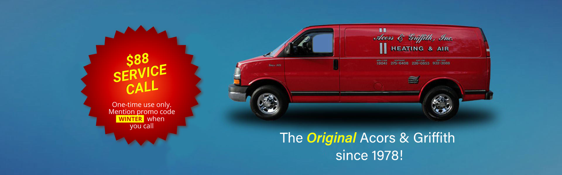 Heating and Air Conditioning Service Van in Richmond VA